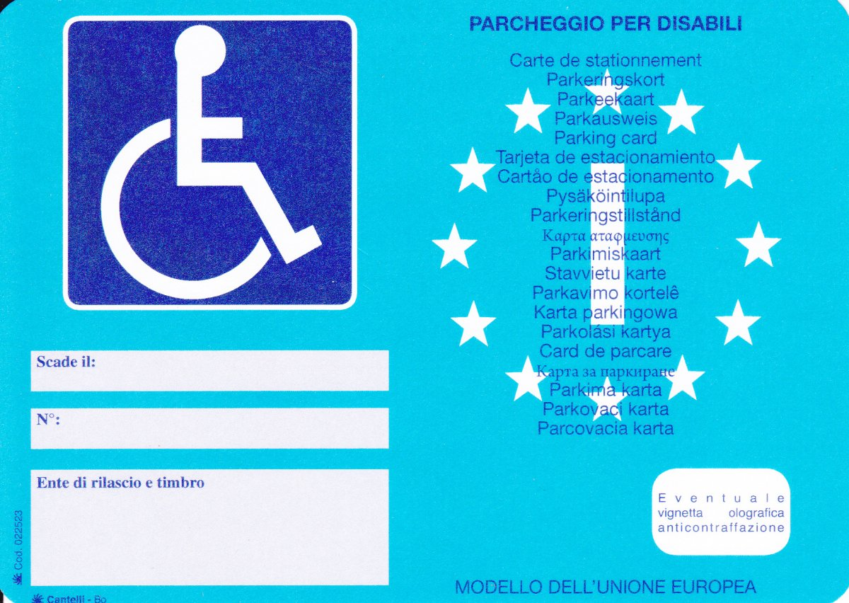 Rilascio contrassegno invalidi