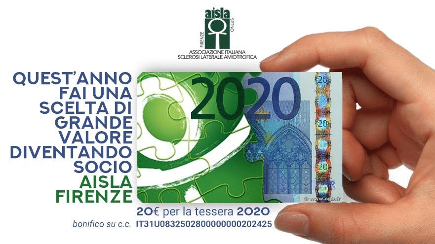 AISLA Firenze campagna tesseramento 2020
